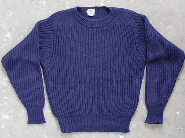 1930s Allen Solly Blue Guernsey Jumper (00022)