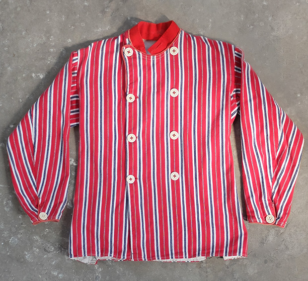 French Double Breasted Striped Work Jacket (00181)