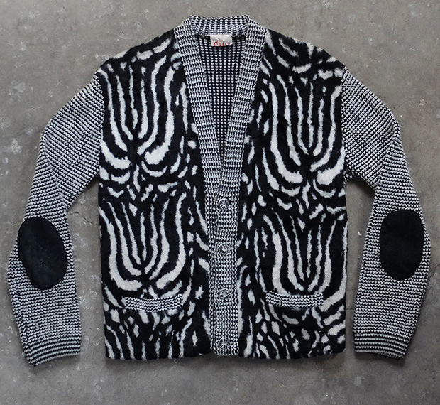 1950s French Zebra Print Cardigan (00183)