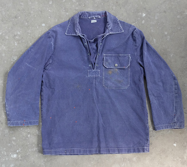 Paint Splash Blue Denim Sailing/artist Smock (00217)