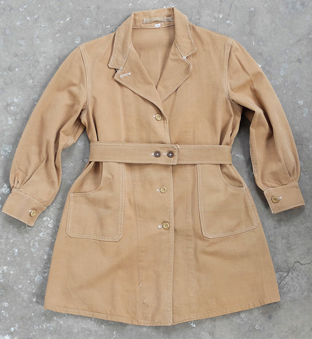 1940s Ladies Land Girl Khaki Work Coat (00249)