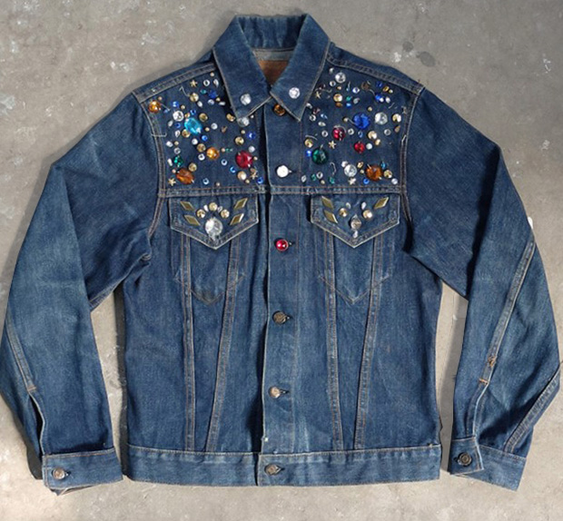 Customised Dark Denim Levi's Jacket (00426)