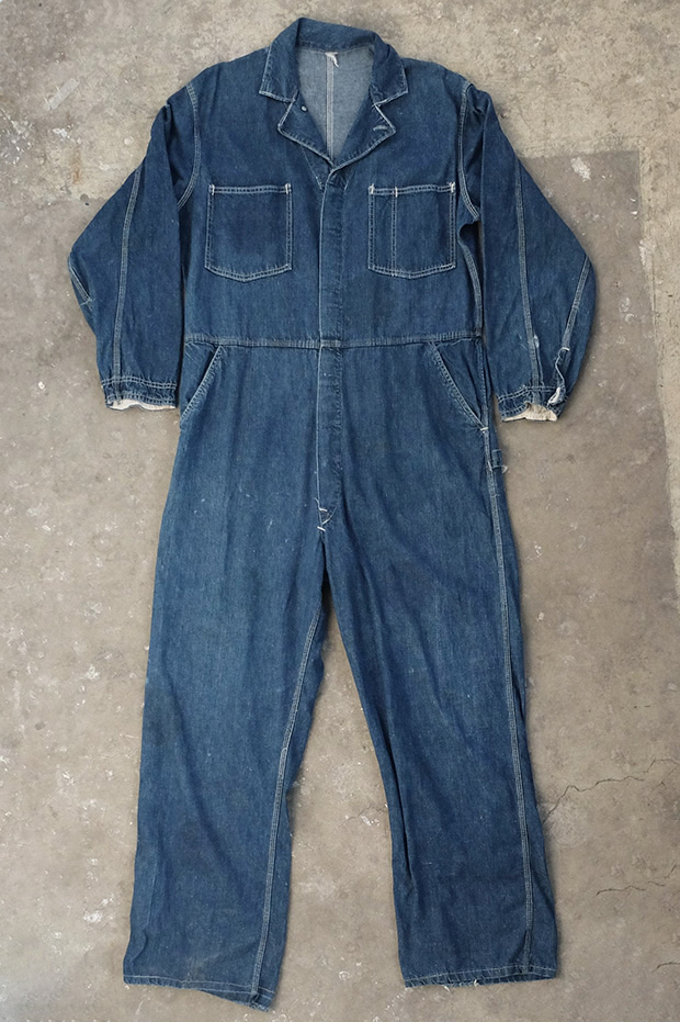1940s USA Blue Denim Work Overalls (00731)