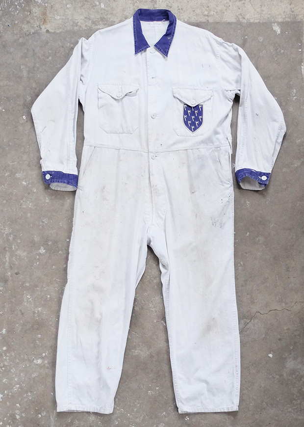 White Racing Mechanic Overalls (00752)