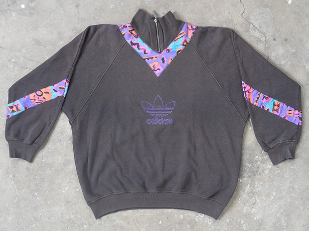 1990s Adidas Sweatshirt With Patterned Panels (01250)