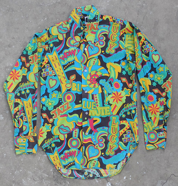 1970s English Jazzy Print Shirt (01337)