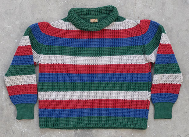 1940s Multi-coloured Striped Jaeger Knit (01565)