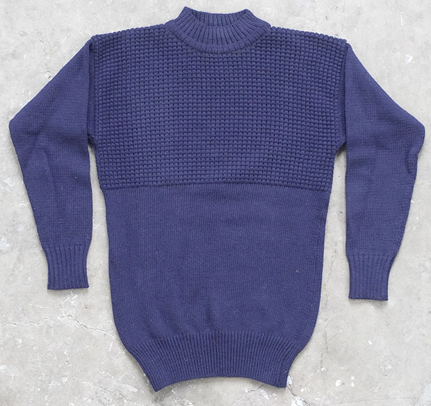 1950s British Part Waffle Naval Knit