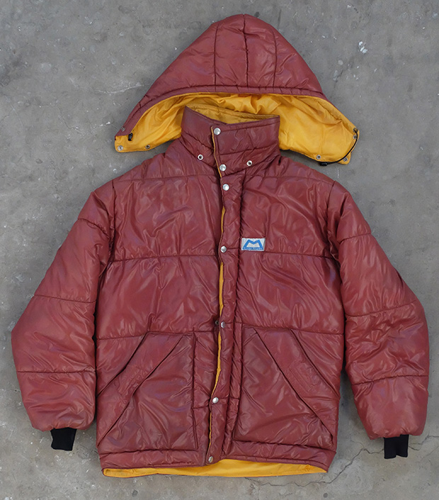 1980s Mountain Equipment Brown And Yellow Puffa Jacket