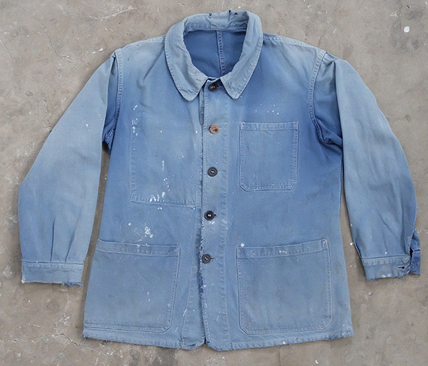 1940s French Faded Work Jacket (01795)
