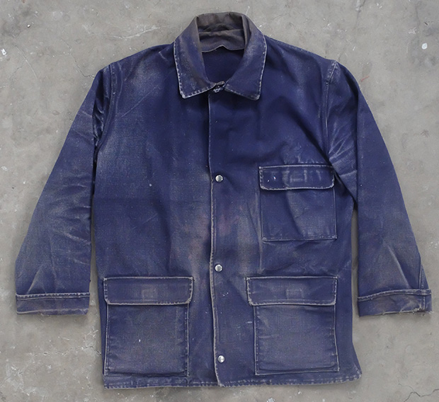 1970s Faded Indigo Denim Work Jacket (01798)