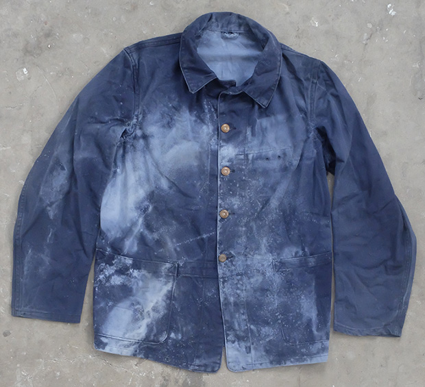 1950s Bleach Splattered English Work Jacket (01799)
