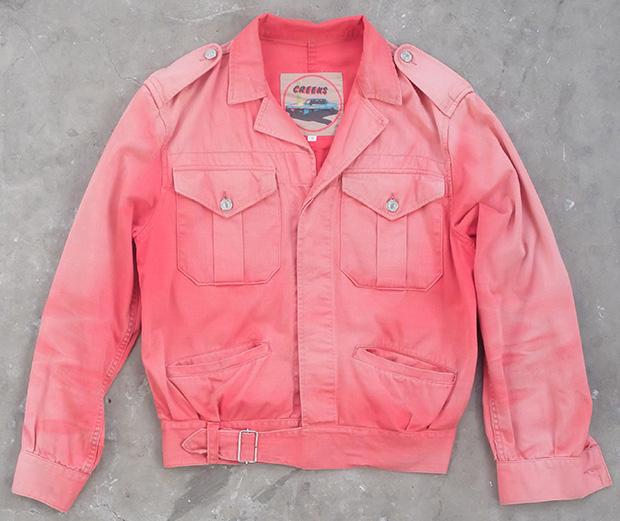 1980s Red Faded Battle Dress Style Jacket (01846)